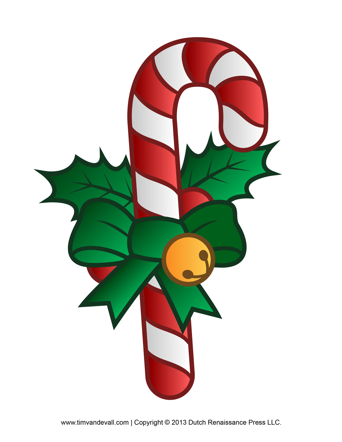Free Candy Cane Template Printables Clip Art Image