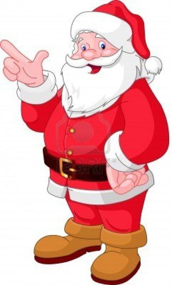 santa claus clipart kids happy