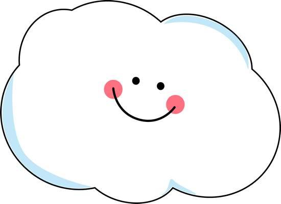 happy cloud clipart 2 #14539