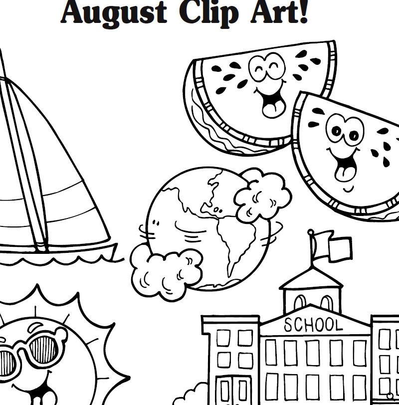 Beach chair and ubrella in august christian calendar