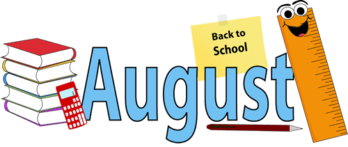 august summer school border clipart