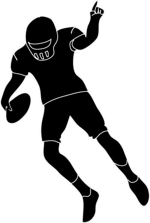 small resolution of clipart football player defense free clipart images