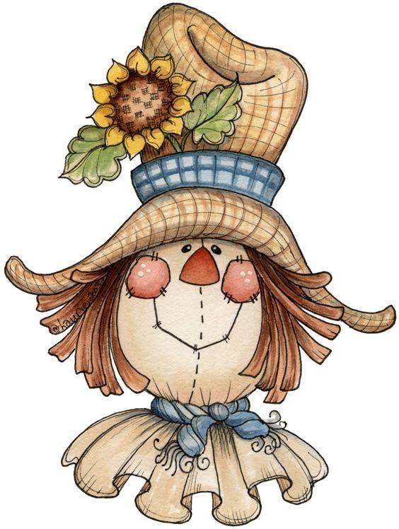 scarecrow clip art - illustrations