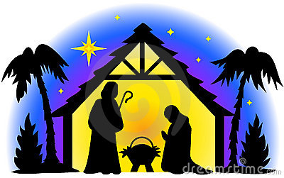 merry christmas nativity clip art