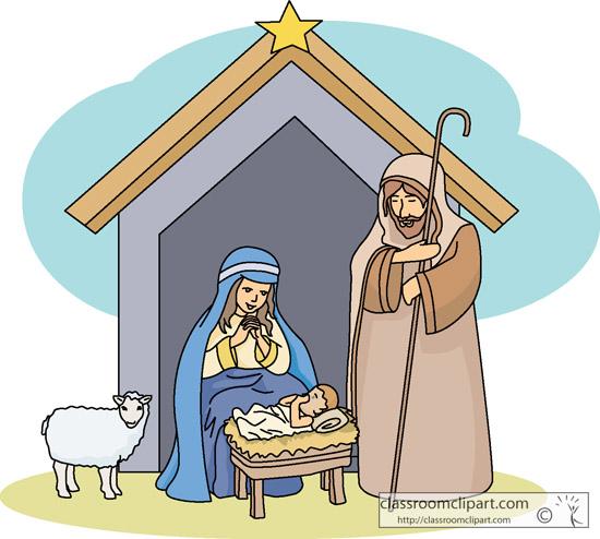 nativity clip art - illustrations