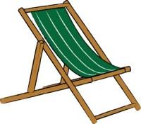 Beach chair clipart image simple beach chair image #18046