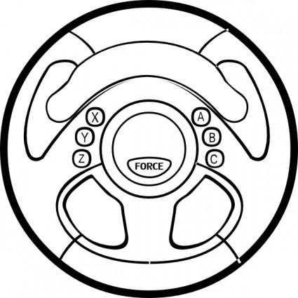 Car wheel force feedback wheel clip art free vector in
