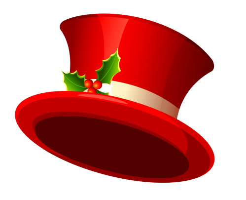 small resolution of christmas top hat transparent clipart 0