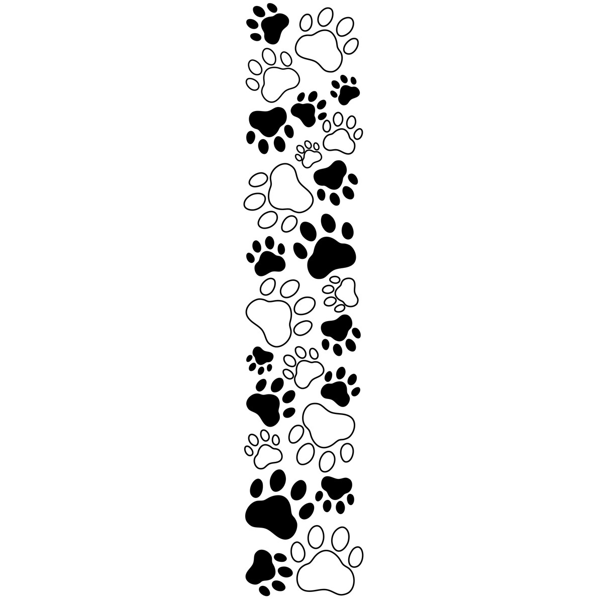Dog paw print clip art free clipart images image #19288
