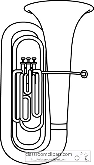 Baritone clipart black and white baritone clipart tuba
