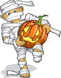 illustration of halloween mummy