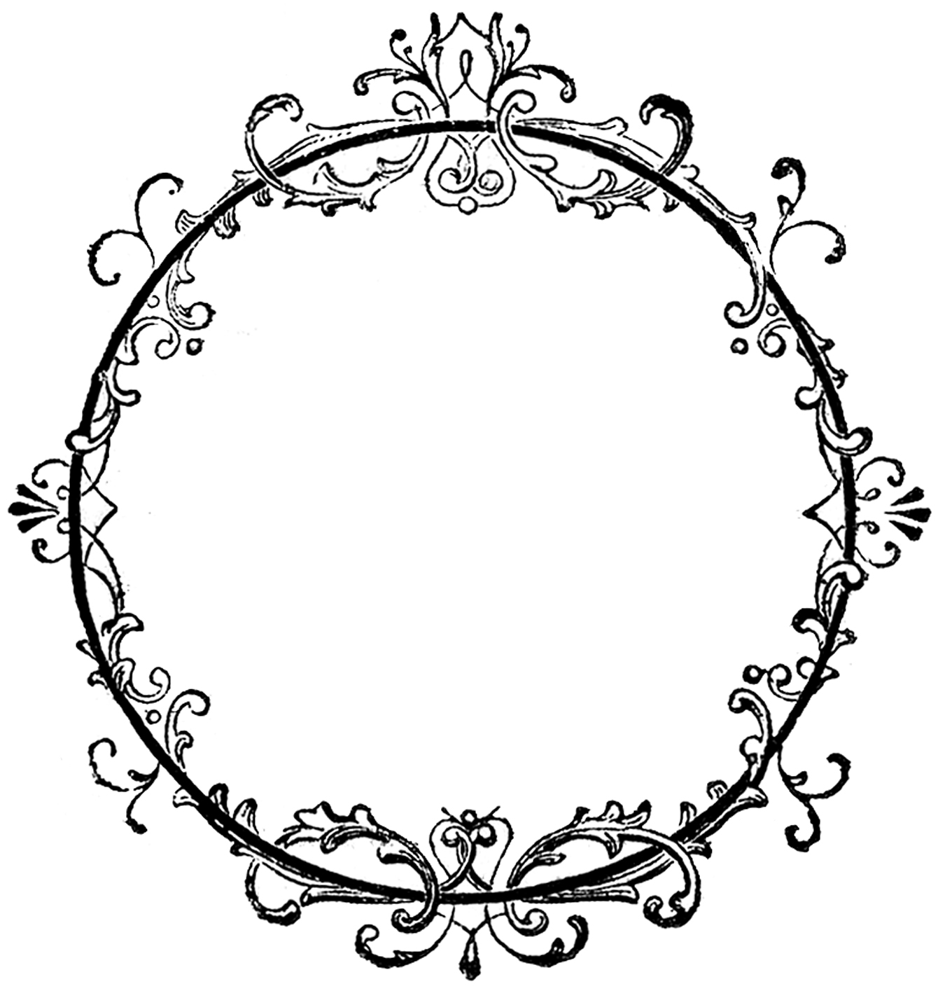 hight resolution of fancy oval frame clip art free clipart images