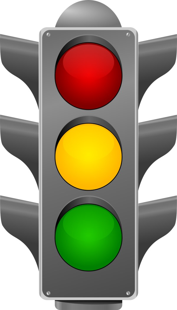 Red Stop Light Clipart #27070