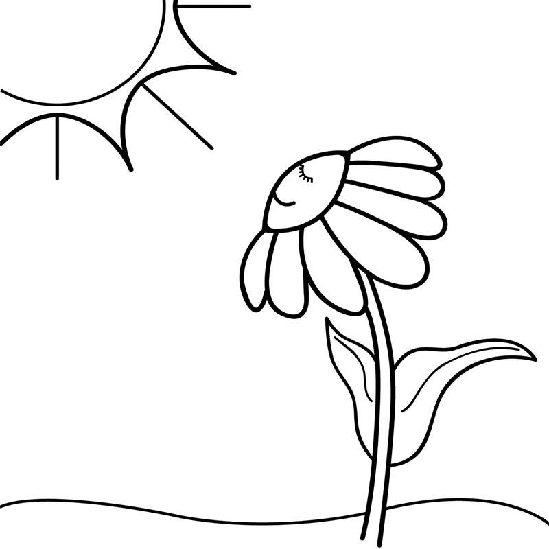 Black and White Sunset Clip Art