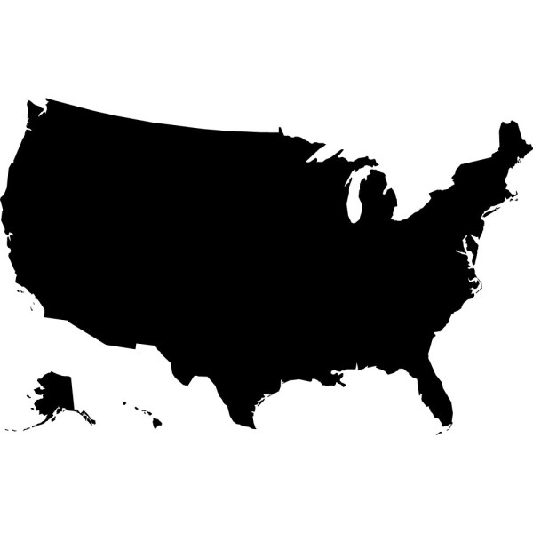 Map Black And White Usa Clip Art #28428
