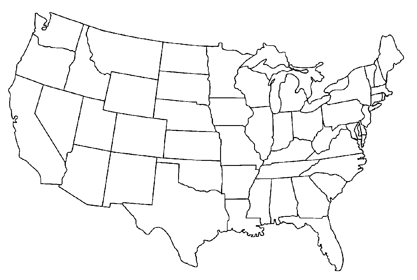 Us Map Photos Of Template Of Usa Map Usa Map With States Clipart Image
