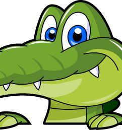 swamp alligator cartoon clipart [ 2965 x 1573 Pixel ]