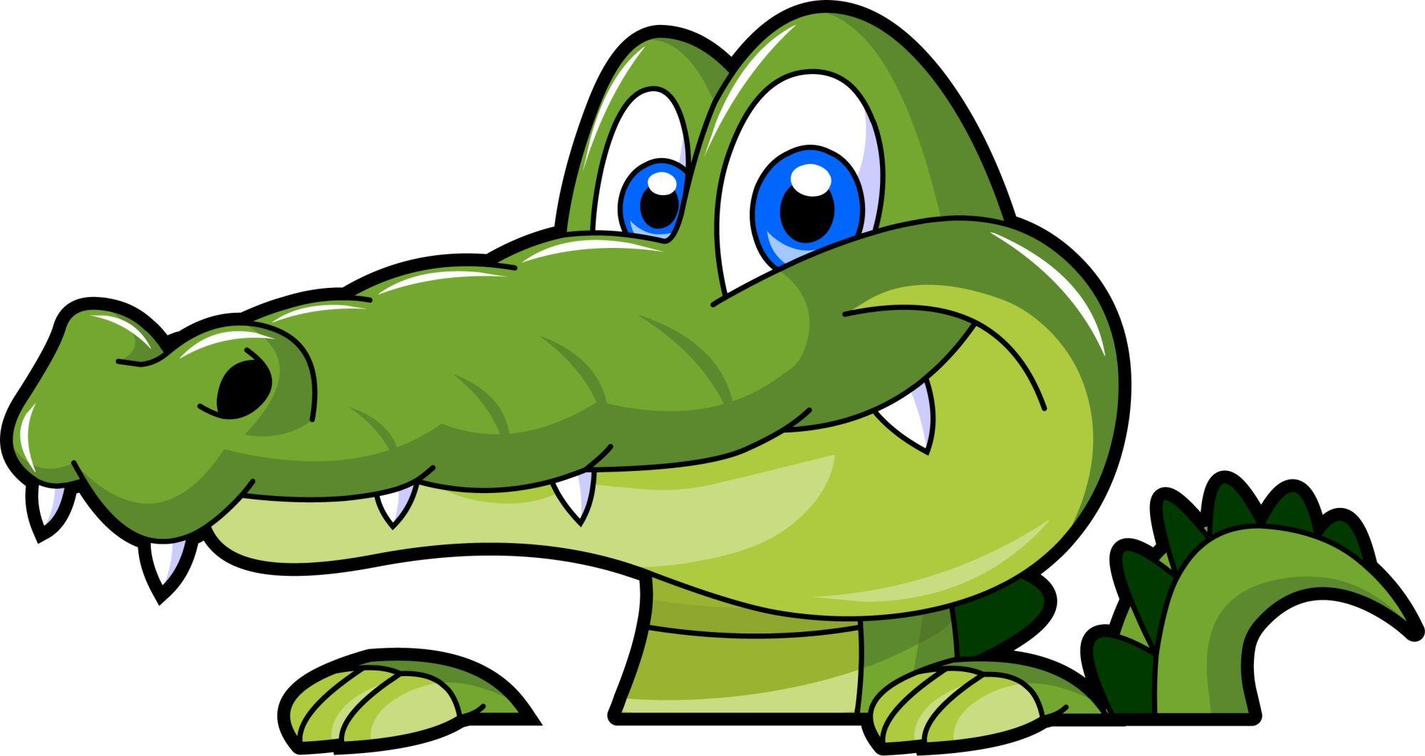 hight resolution of swamp alligator cartoon clipart