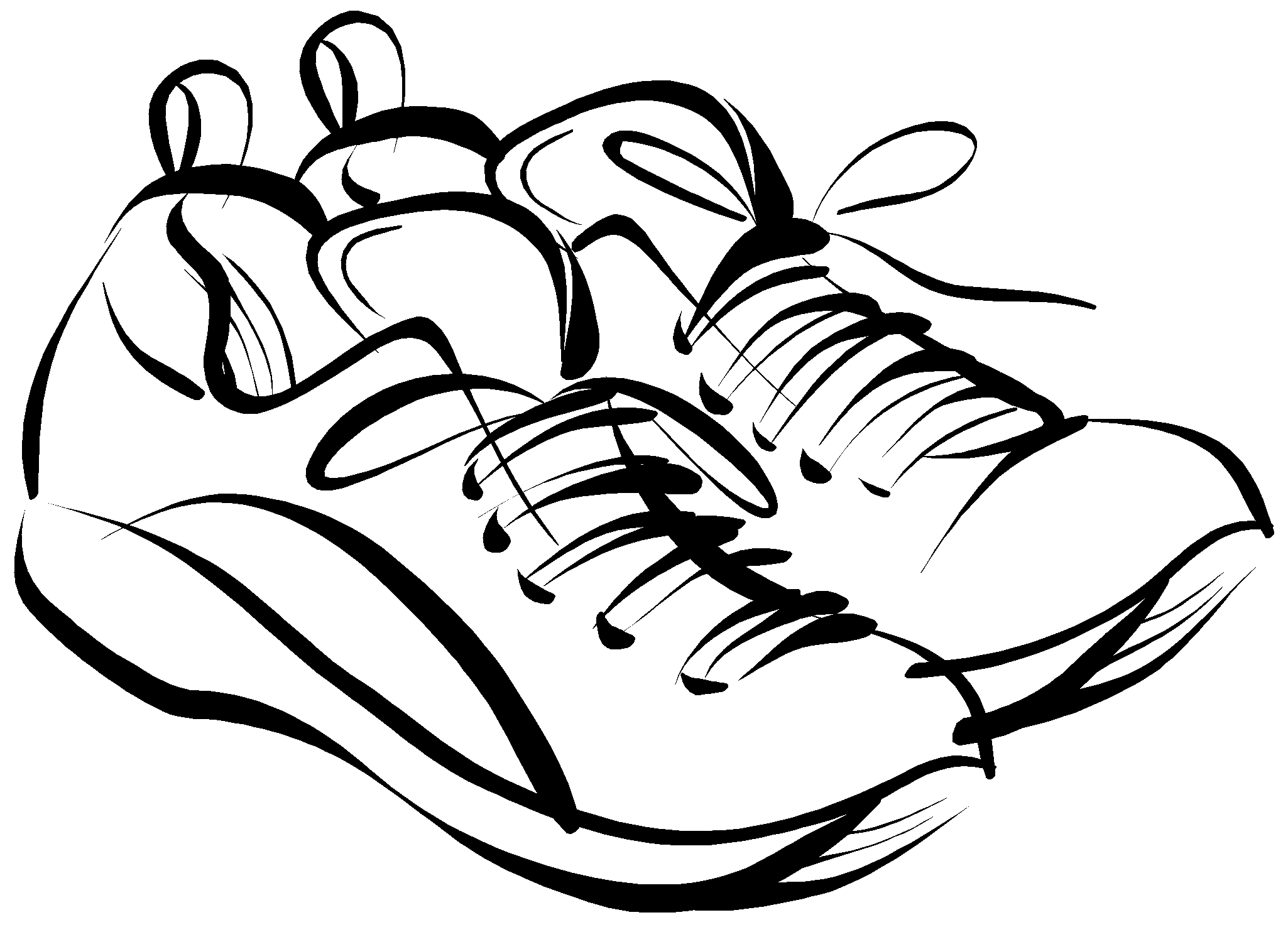 Nike Running Shoes Clipart Free Clipart Images 3 Image