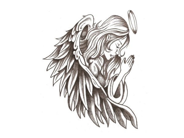 20 Religious Halo Wing Tattoos Ideas And Designs