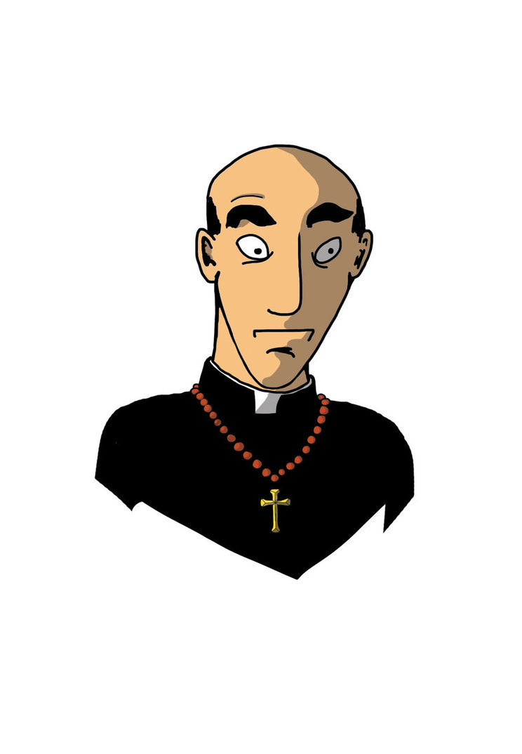 hight resolution of priest images clipart co