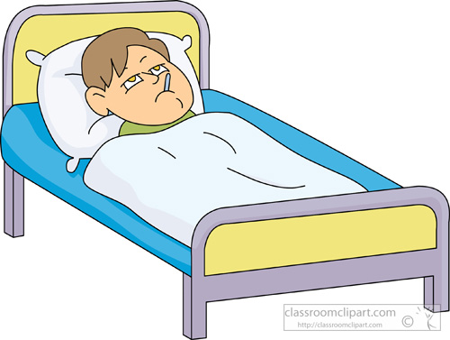 Sick In Bed Clipart Image #33233
