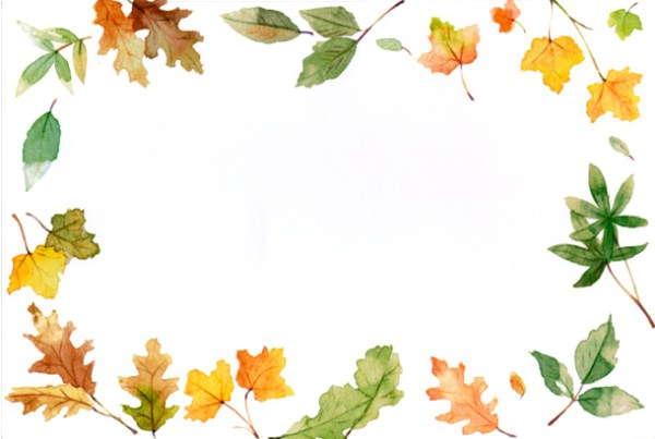 fall border october clipart
