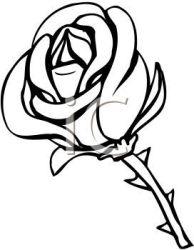flower clip rose vector clipart