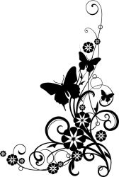 border flower clipart clip borders butterfly horizontal cliparts related