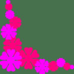 border flower clipart horizontal