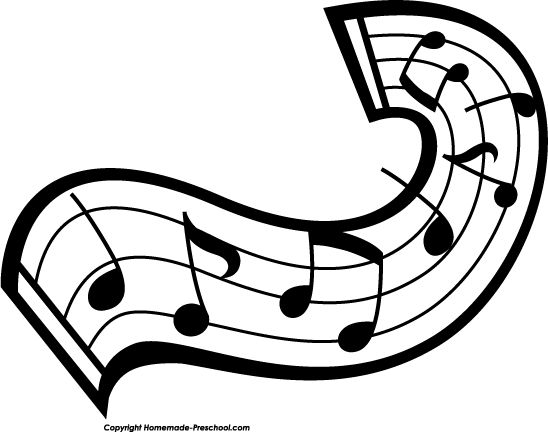 Band instruments black and white clipart clipart kid image