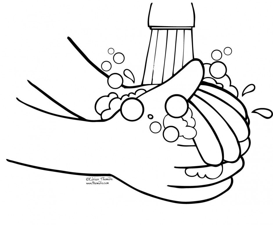 Hand washing coloring pages for kids az coloring pages