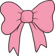 pink ribbon hair bow clip art craft