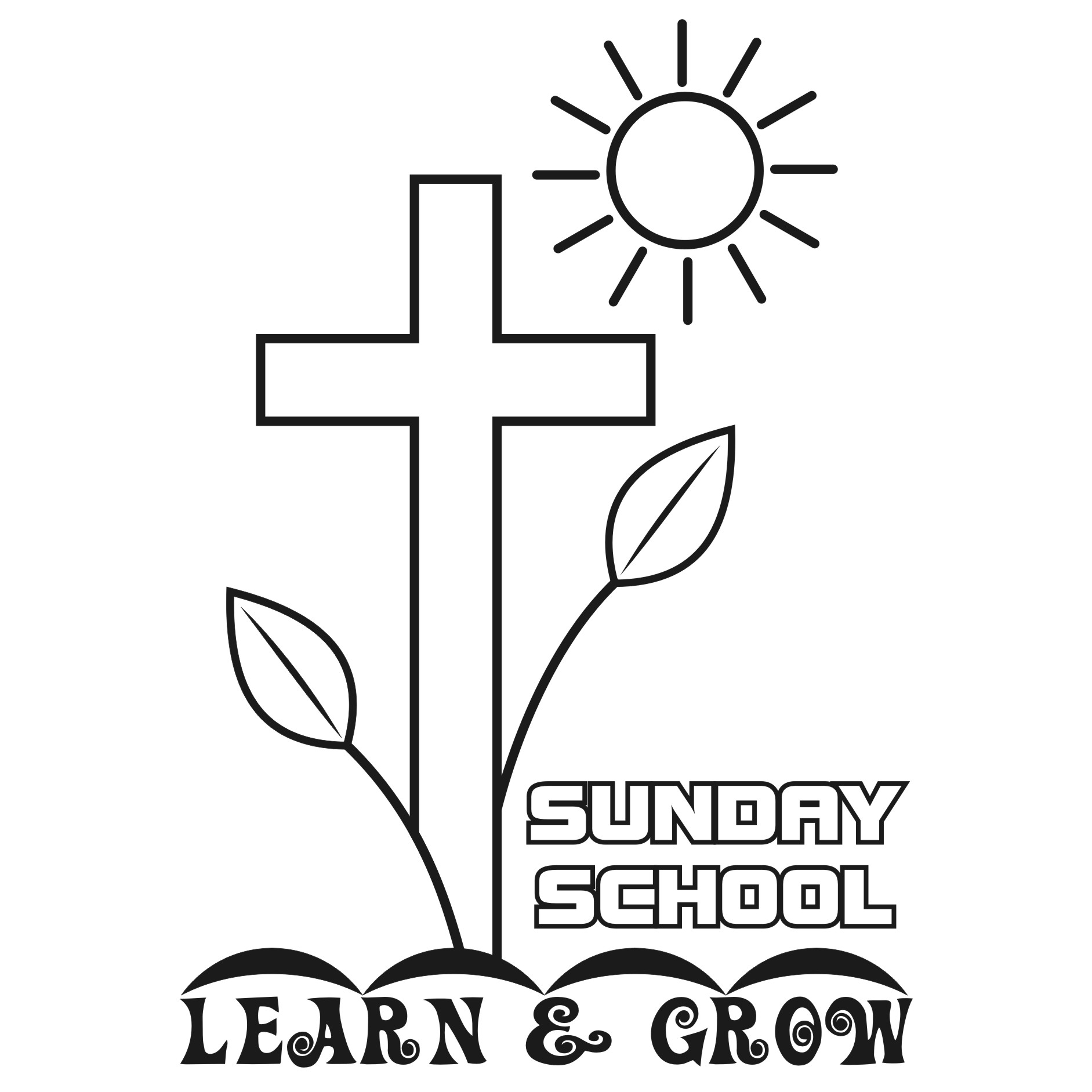 Sunday school free lds clipart to color for primary