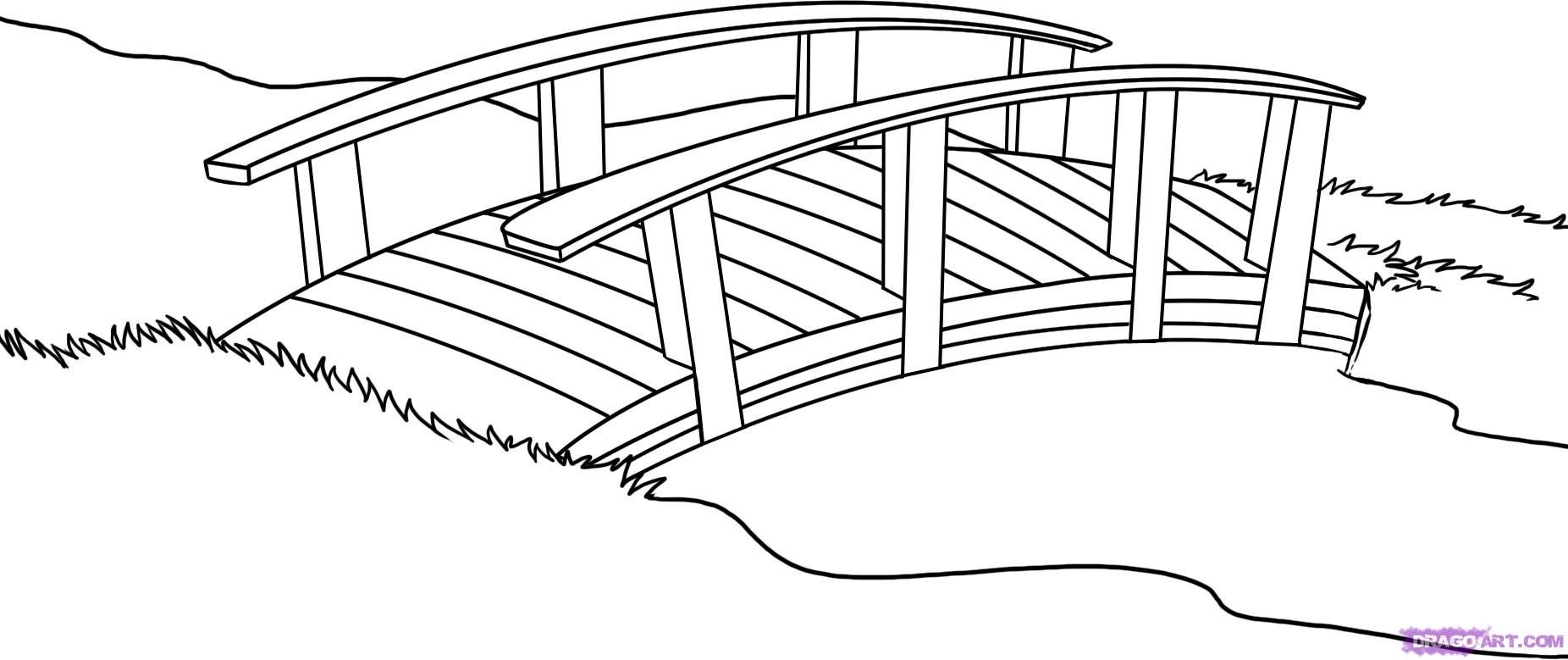 Free Coloring Pages Of Brooklyn Bridge Clip Art Image