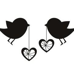 love birds birds with love hearts wall art sticker wall decal transfers clipart [ 1200 x 1200 Pixel ]