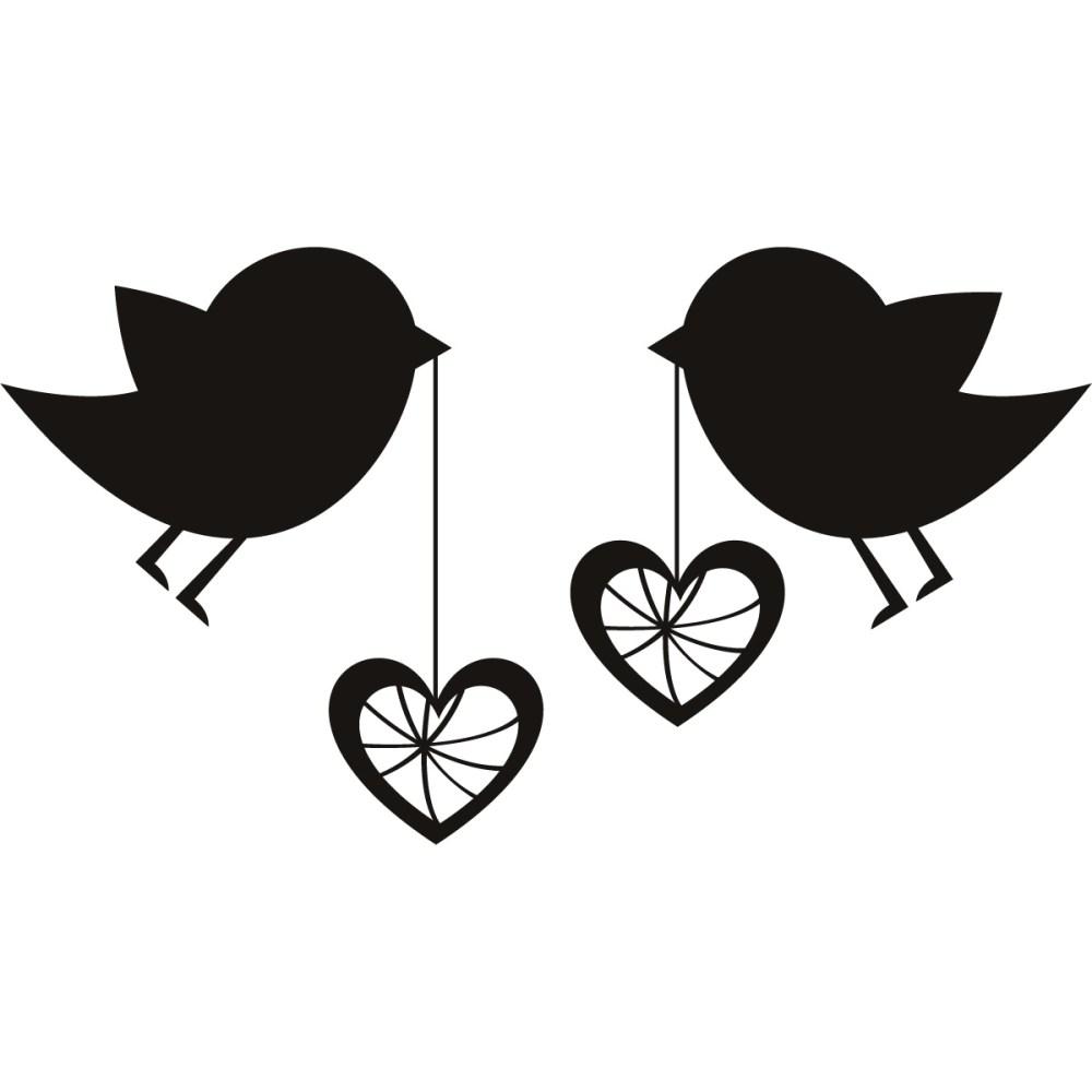 medium resolution of love birds birds with love hearts wall art sticker wall decal transfers clipart