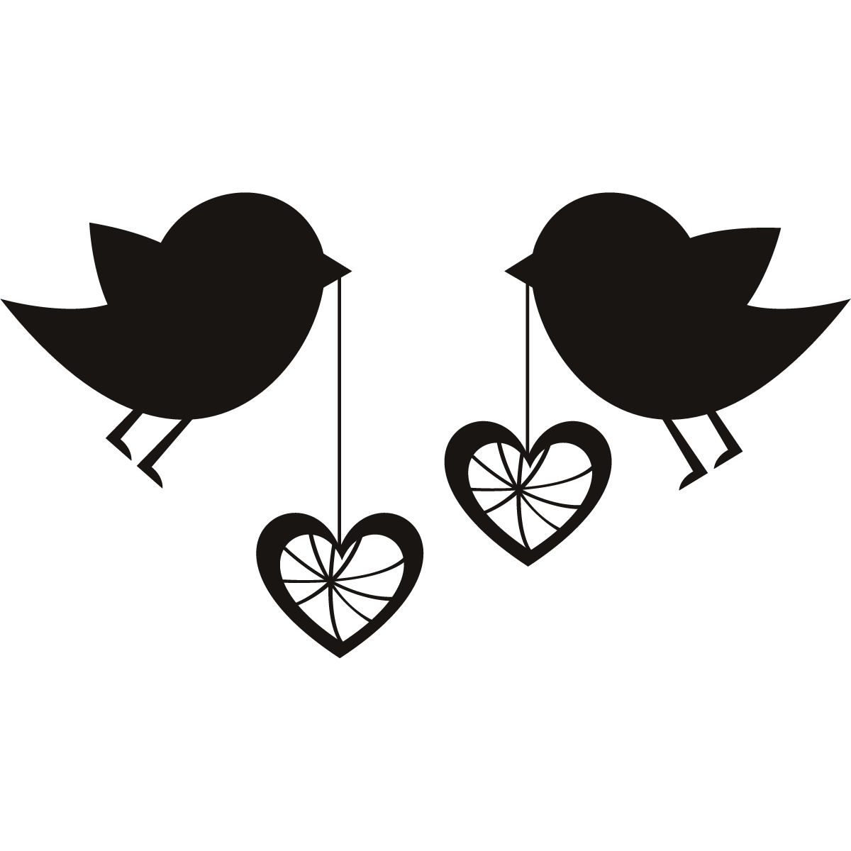 hight resolution of love birds birds with love hearts wall art sticker wall decal transfers clipart