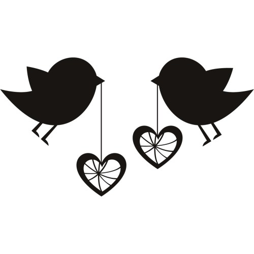 small resolution of love birds birds with love hearts wall art sticker wall decal transfers clipart