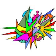 abstract clip art - illustrations