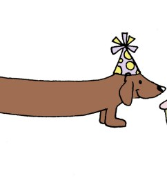 dachshund 0 images about hugs on belated birthday card clip art [ 1600 x 862 Pixel ]
