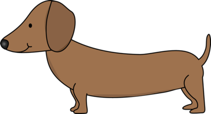 dachshund clip art - illustrations