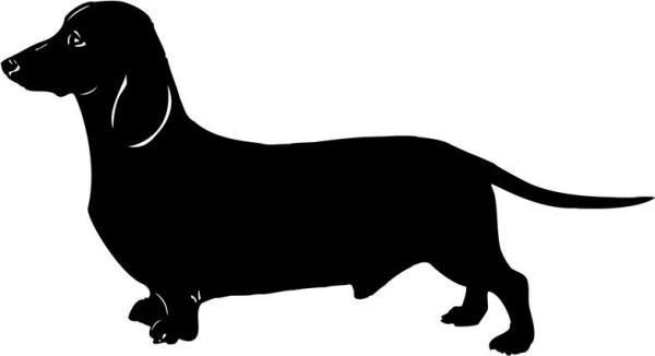 clip art of cartoon dachshund dog