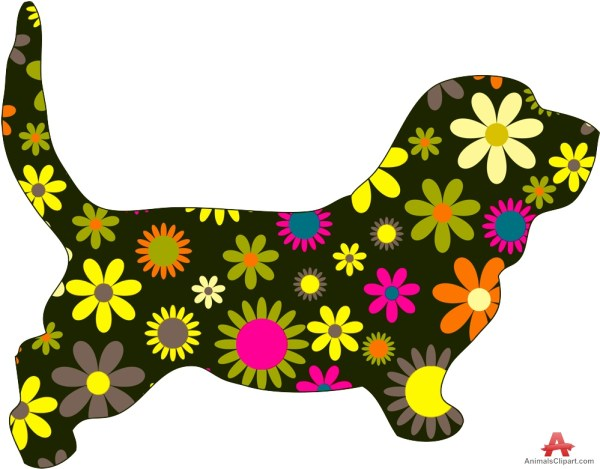 dachshund dog with flowers paterns