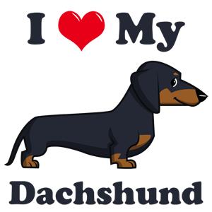 dachshund love clipart