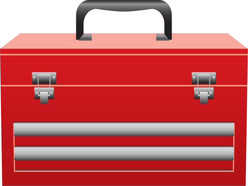 small resolution of toolbox clipart red tool