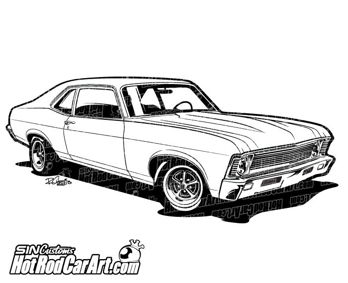 Muscle car 6 ford coupe hot rod car art clip art image #41970