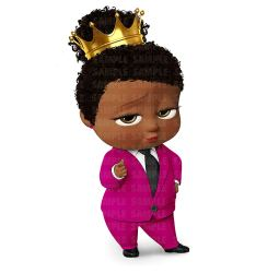 boss clipart african american cake birthday edible topper sheet toppers walmart party cupcake cakes personalized ediblecaketopper