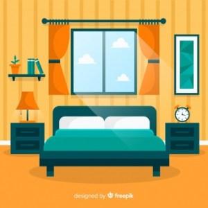bedroom clipart interior flat bed vectors letto dormitorio camera master freepik living window drawing premium svg casa psd plano gratis