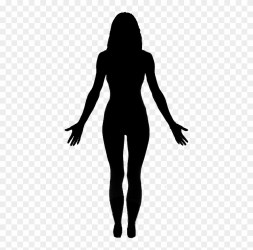 silhouette body clipart outline getdrawings